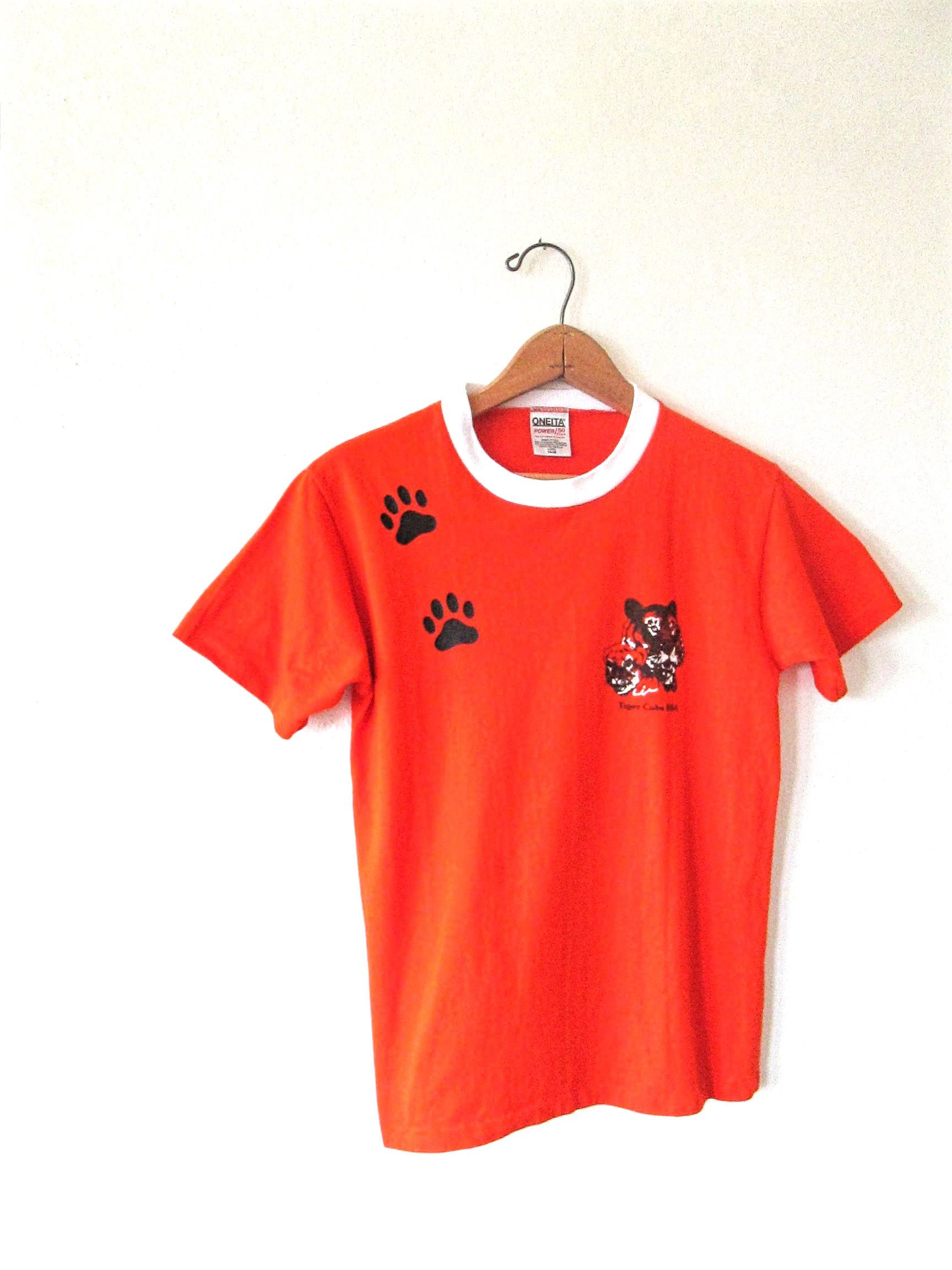 980688916cde1 Vintage 1990s TIGER CUBS Boy SCOUTS of America Ringer Tshirt Kids Sz ...