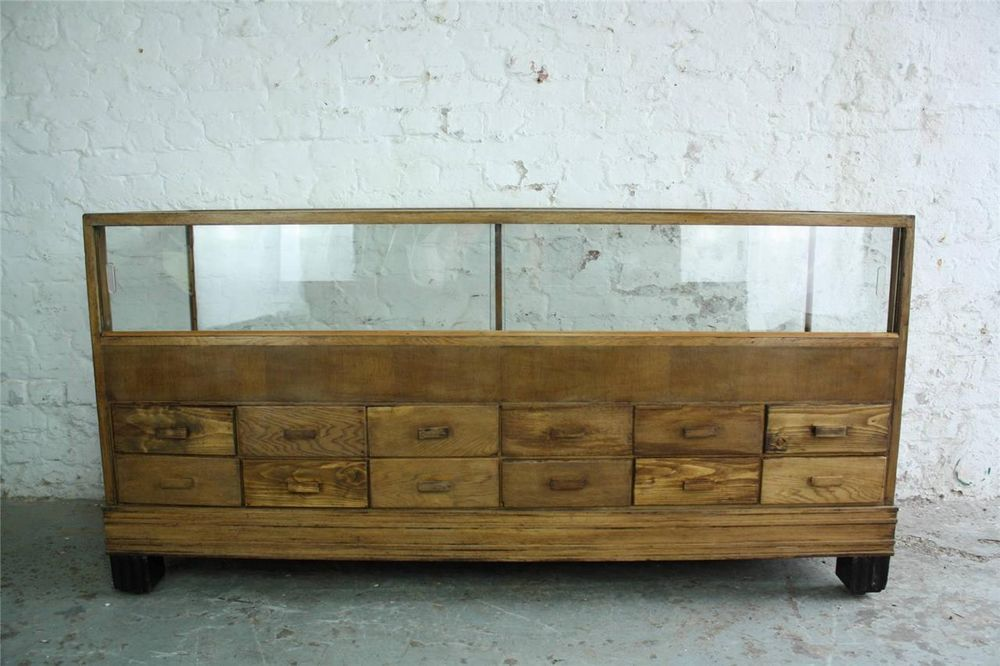 Vintage Industrial Shop Counter 40s 50s Haberdashery
