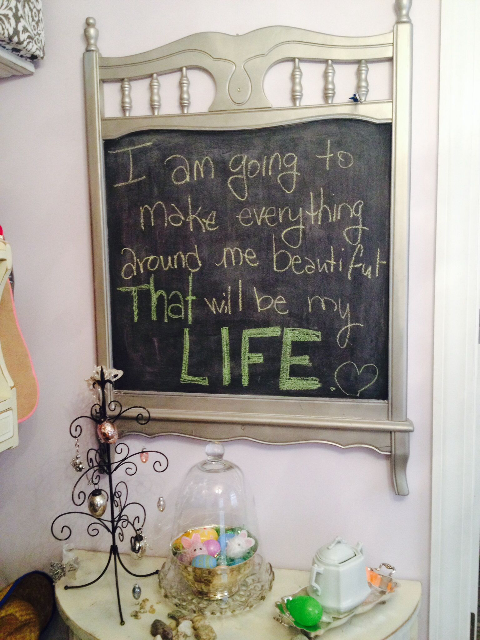 crib footboard upcycled as a chalkboard diy and crafts on fantastic repurposed furniture projects ideas in time for father s day id=33648