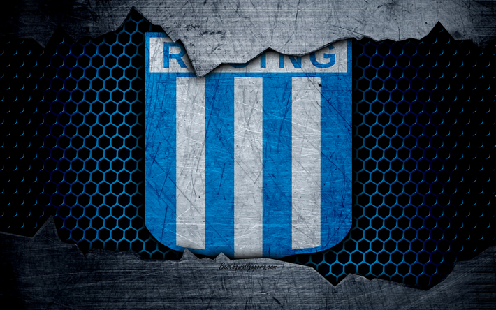 Download Wallpapers Racing Club 4k Superliga Logo Grunge