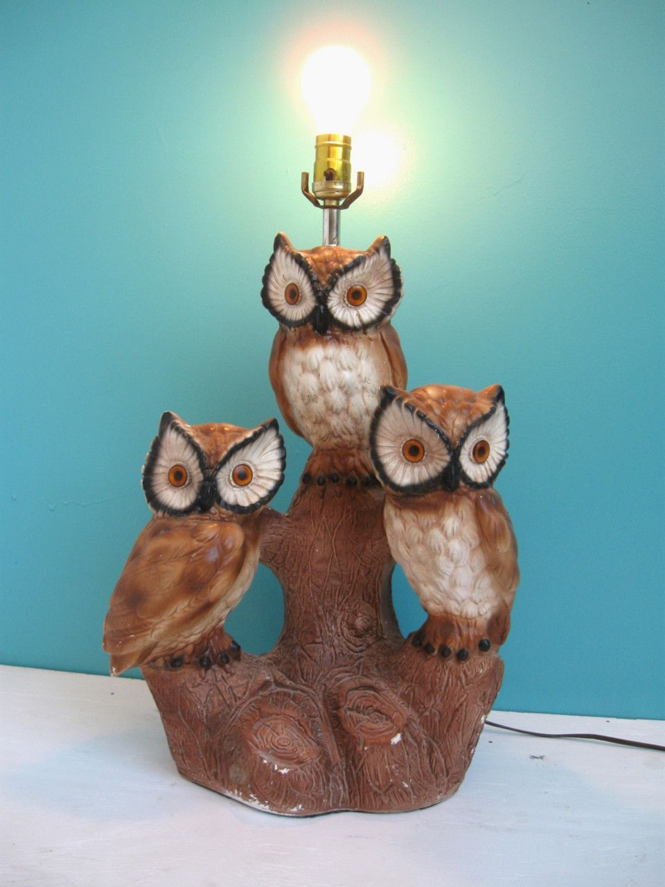 Vintage owl lamps -  Betsy Martin Is This Yours Owl Lampkitsch Artowl Cookiesvintage