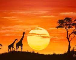 Mis Marcadores Arte De áfrica Paisajes De Africa Cuadros De Arte
