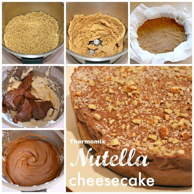 Mrs D plus 3 | Thermomix nutella cheesecake | http://www.mrsdplus3.com