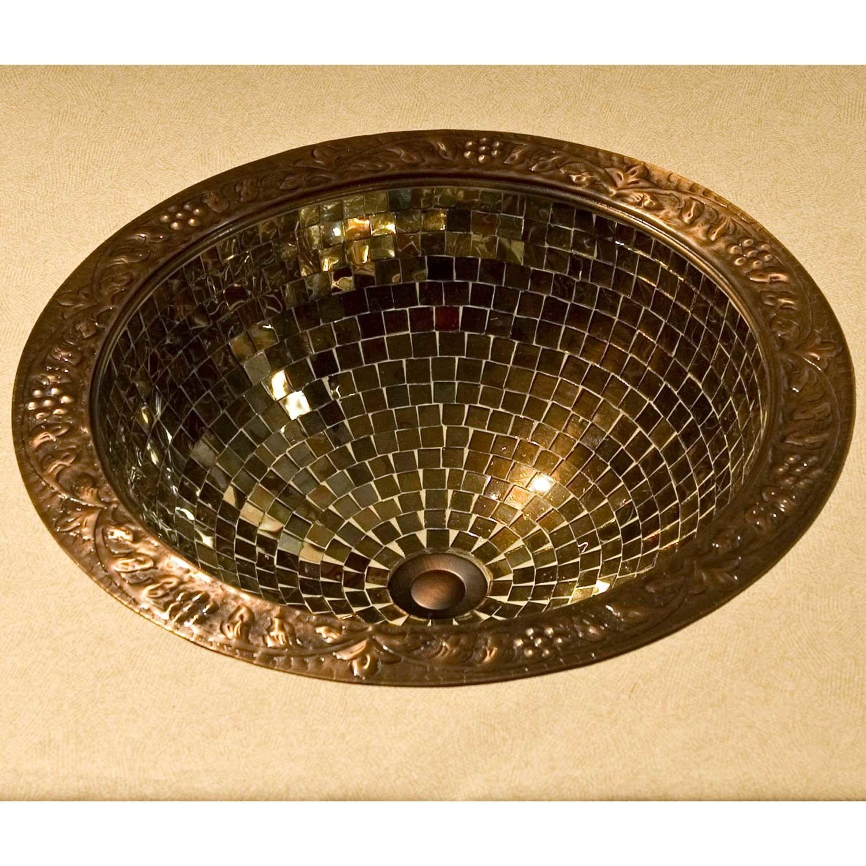 Adair Glass Mosaic Copper Sink Bathroomsinks Wet