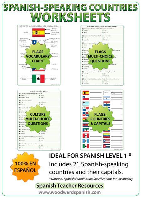 Spanish-speaking countries worksheets and activities - Spanish ...