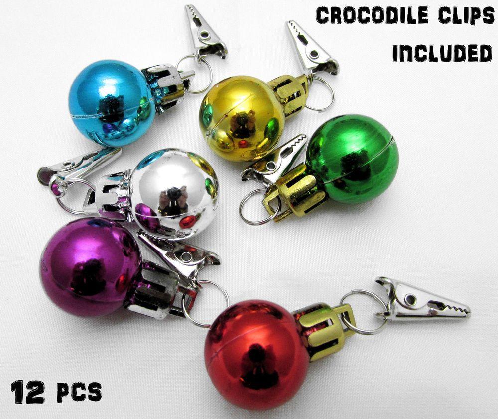 Beard Baubles X12 With Mini Crocodile Clips Santa Christmas Gift