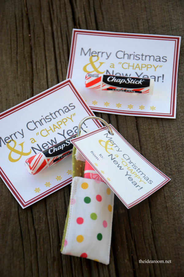 diy merry christmas chappy new year holiday gift idea with printable tag