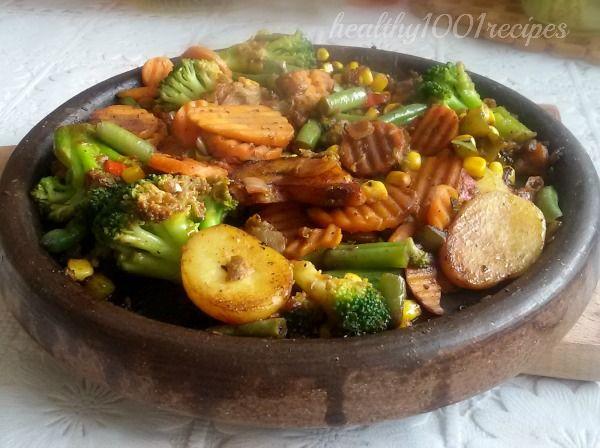 Кулинарни рецепти за здравословно хранене: Зеленчуци на сач / vegetables clay pot
