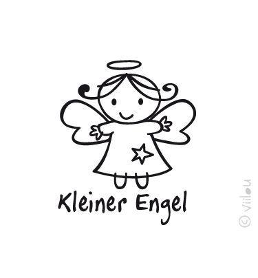 Engel Velours Applikation Aufbügler Angel pimp from viilou   by DaWanda.com #steinebemalenvorlagen