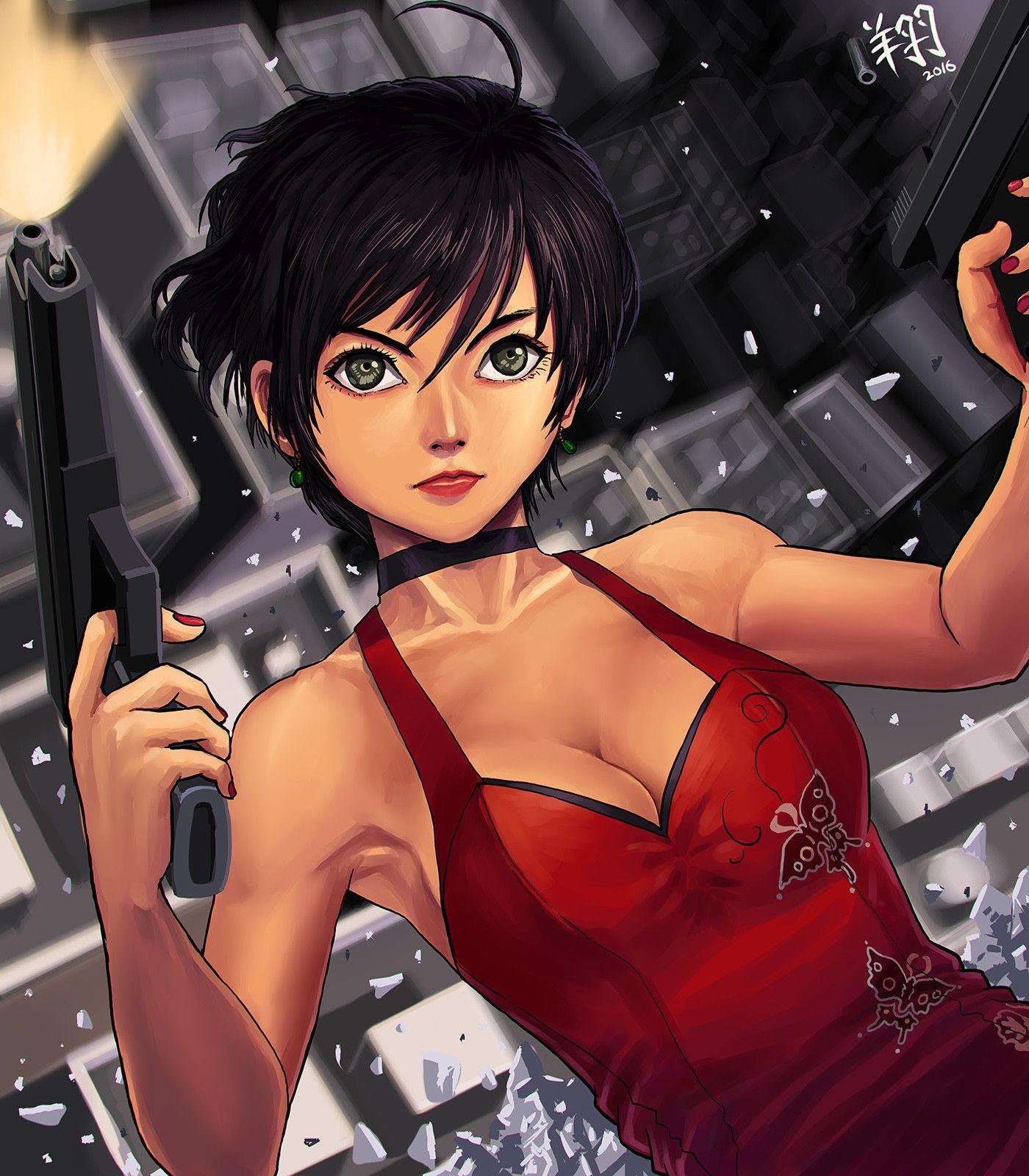 ArtStation Ada Wong, Lung Hsiang Tai Resident evil