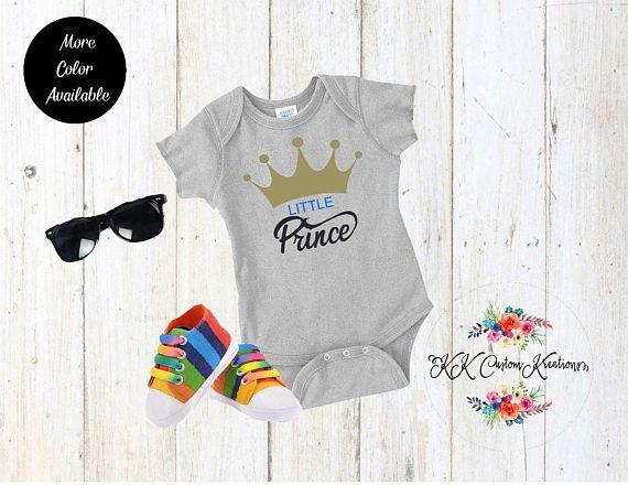 ffef1d6de Little Prince - custom bodysuits-baby shower gift-birthday-Baby Boy  clothing-Custom onesie - Newborn - Arrival - Baby Bodysuit-Royal Prince