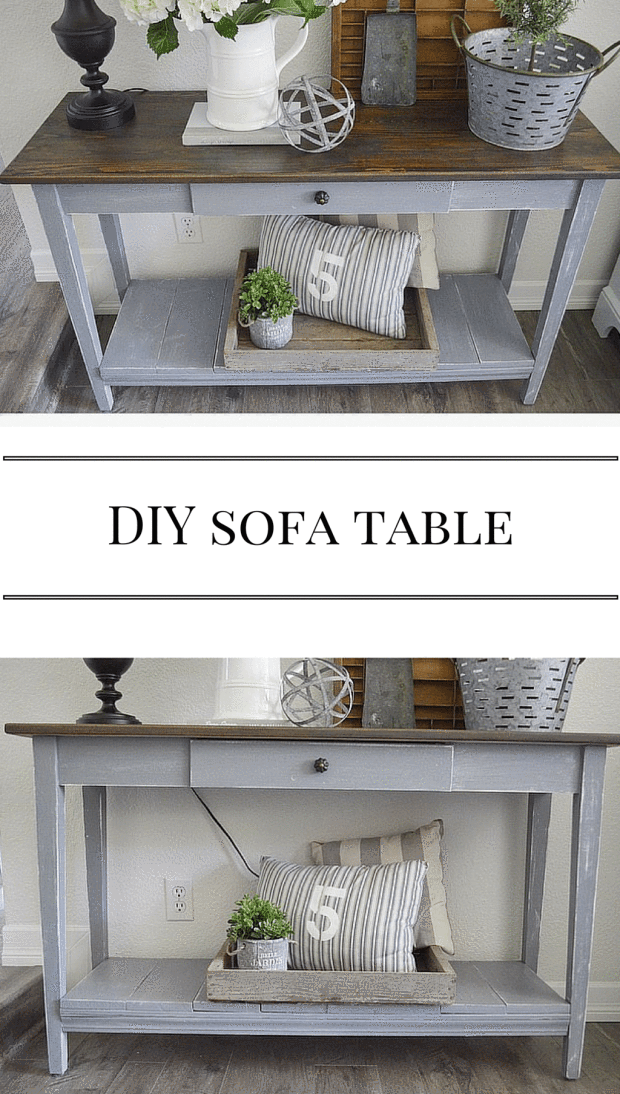 Farm Fresh Homestead Diy Sofa Table Sofa Table Decor Diy Sofa