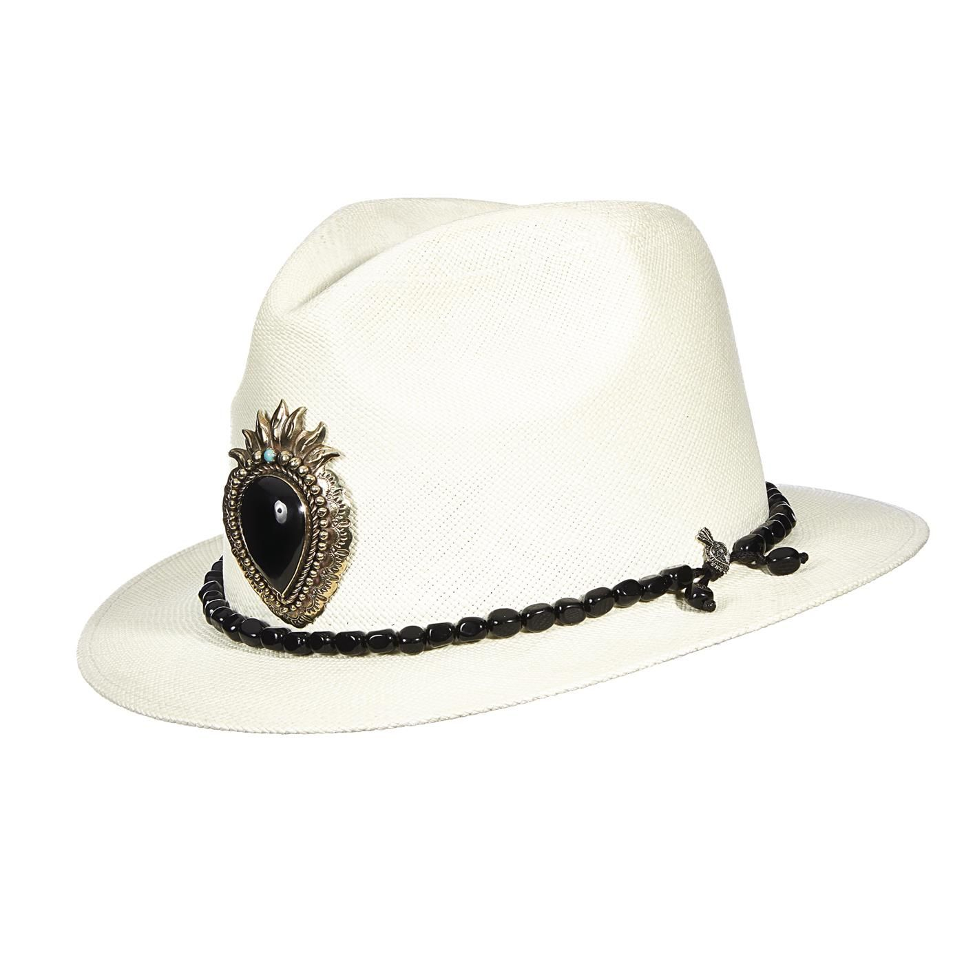 5865cc2b73249 This special edition panama hat is worn by Carlos Santana himself. The hat  has a