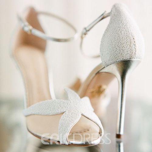 White Sea Star Stiletto Sandals – Little Mermaid   Geek wedding ...