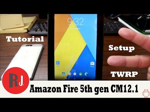 How to install CM12 1 on the Amazon Fire 5th gen Tablet - YouTube