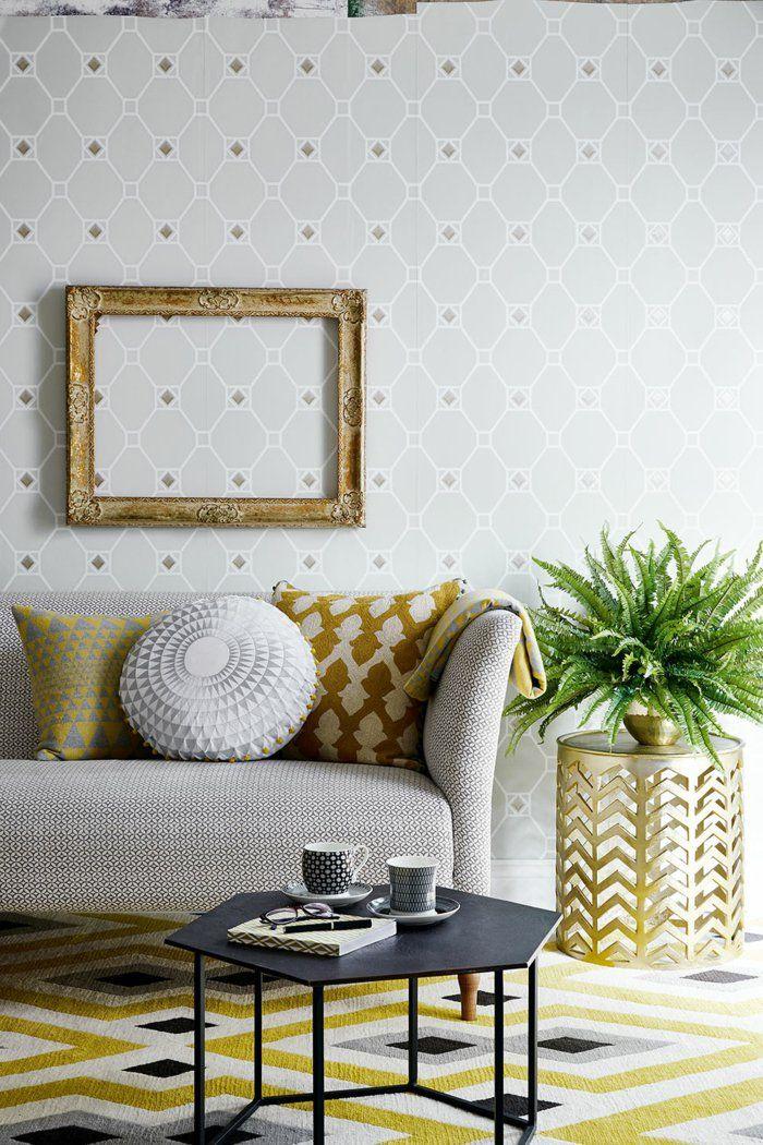 tapete muster wohnzimmer geometrische wandtapete wohnzimmerteppich - tapete wohnzimmer ideen