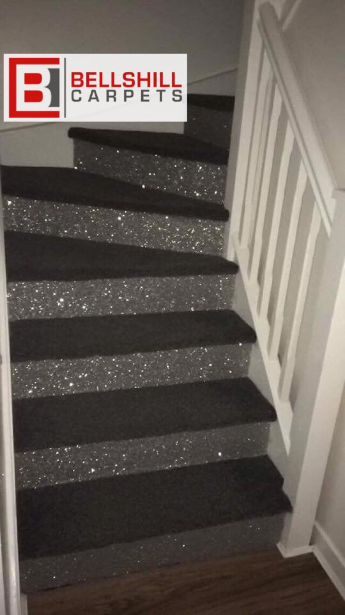 Stairs For My New Addition In 2019 Glitter Stairs   Glitter Stairs With Carpet