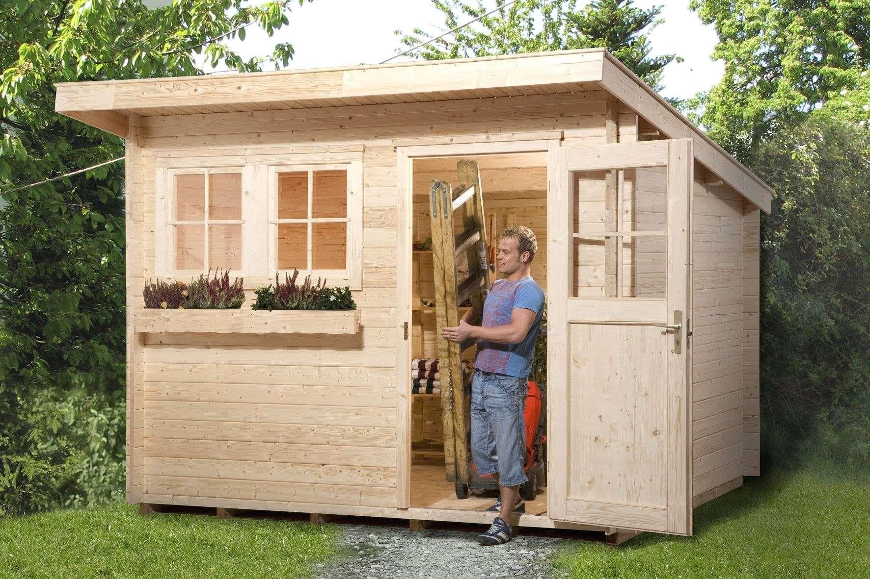 Gerätehaus Garten Holz Reizend Gartenhaus Flachdach Selber