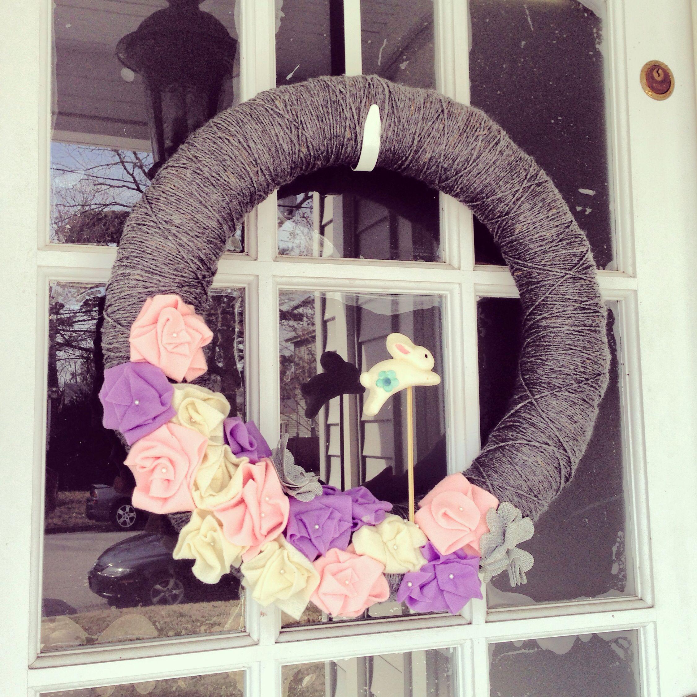 #spring #wreath #bunny