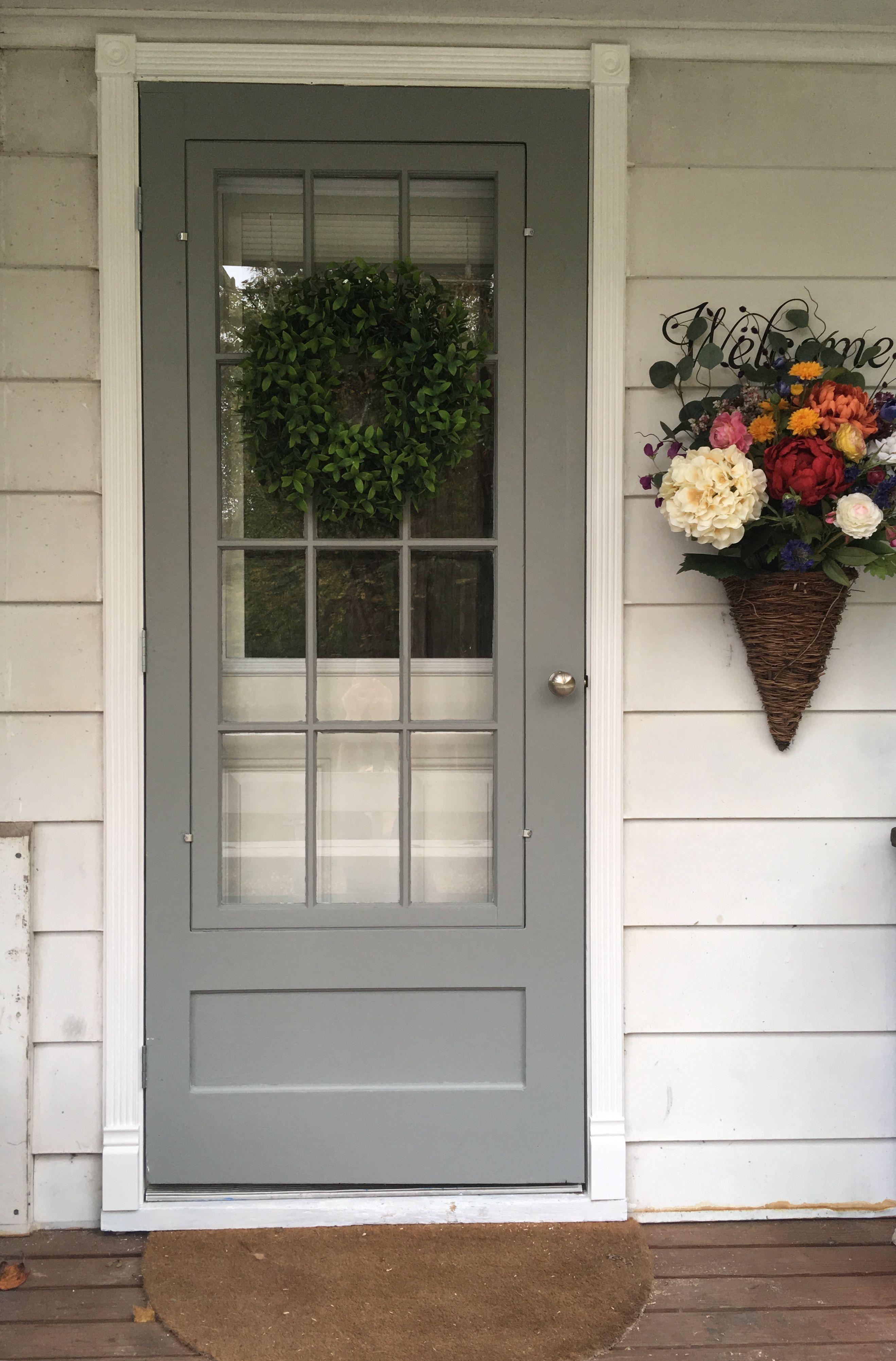 Vintage Storm Door Storm Door Painted Front Doors Exterior