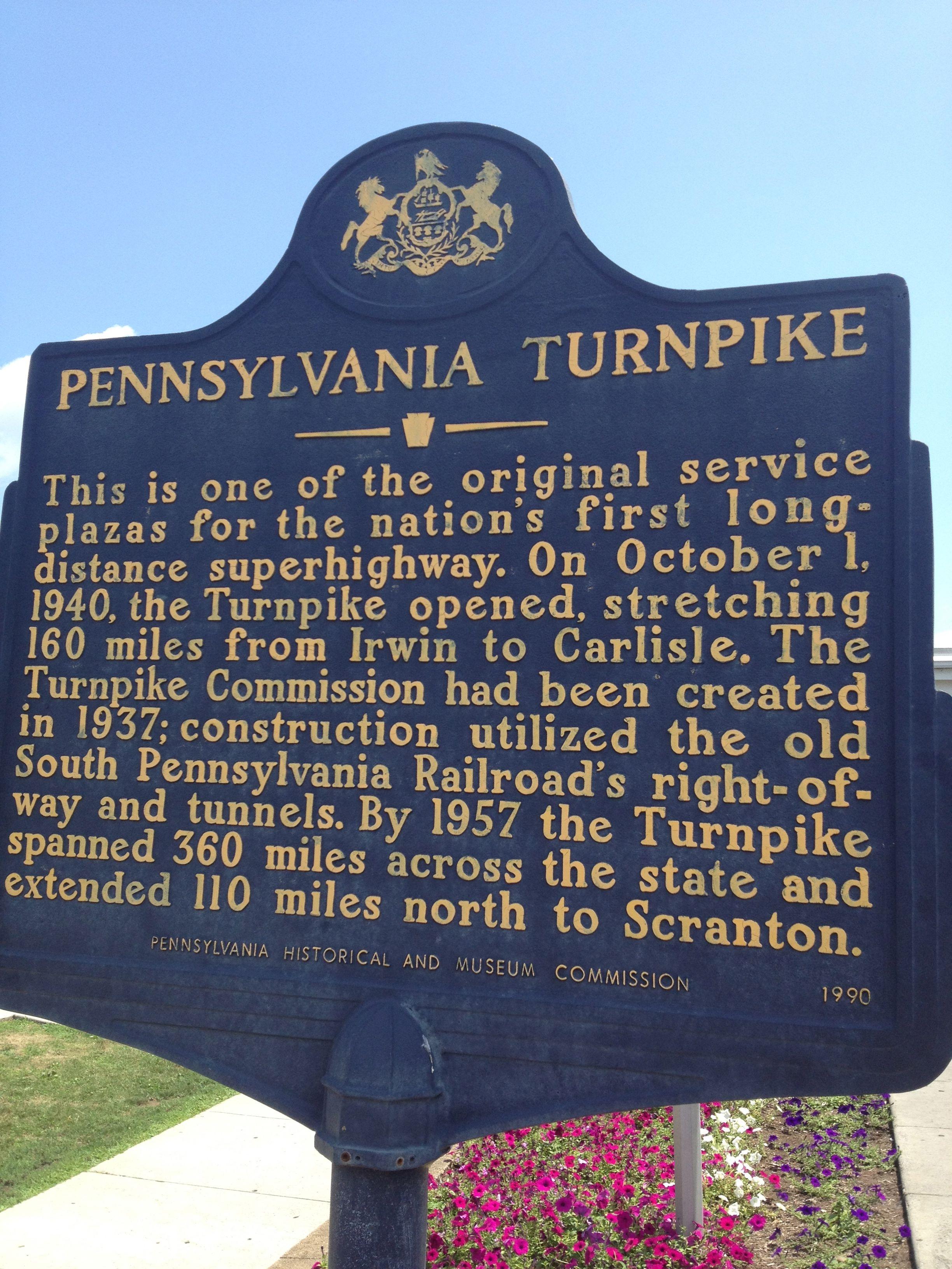 Pennsylvania Turnpike History Pennsylvania History Pennsylvania
