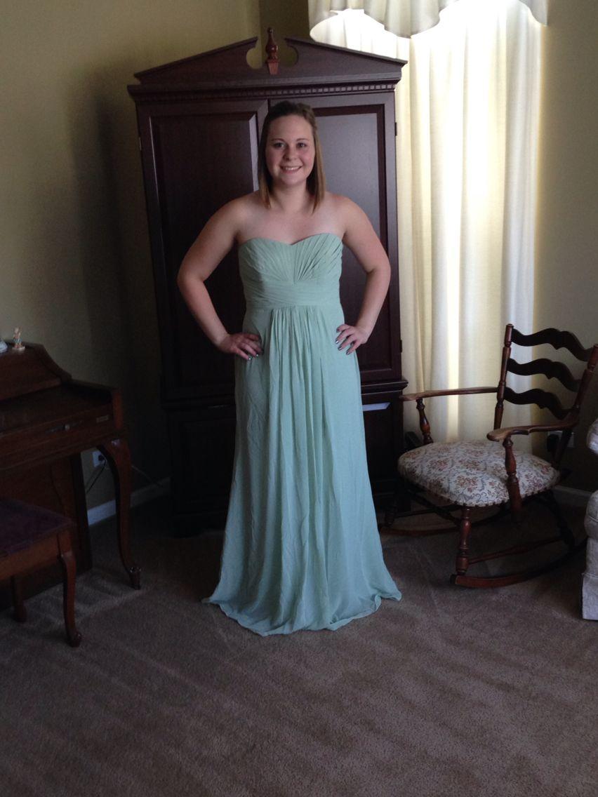 bc085d1e700 Meadow green bridesmaids dress. David s bridal