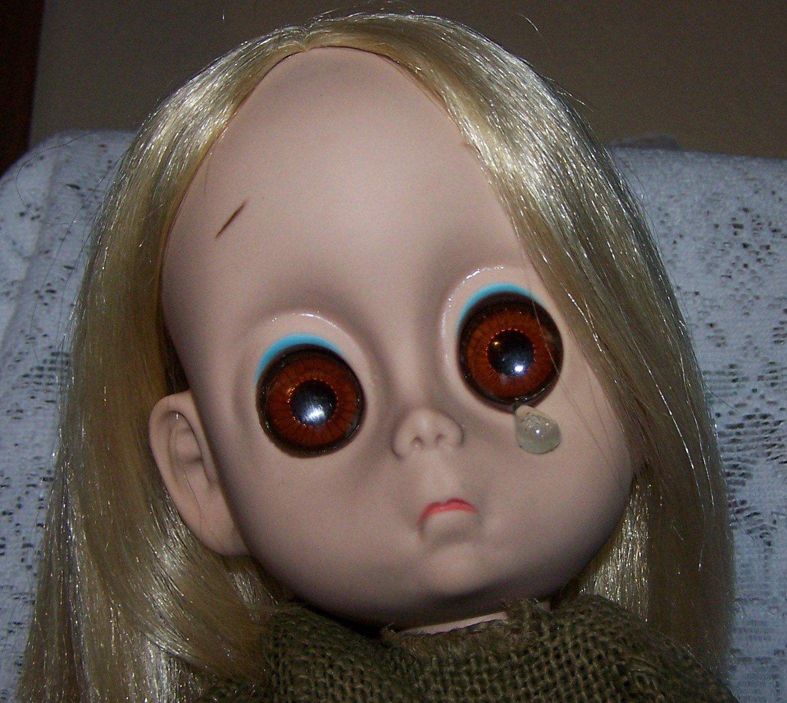 Little Miss No Name doll.  I had one of these in the '60's.  Scary, sad doll!! LOL!