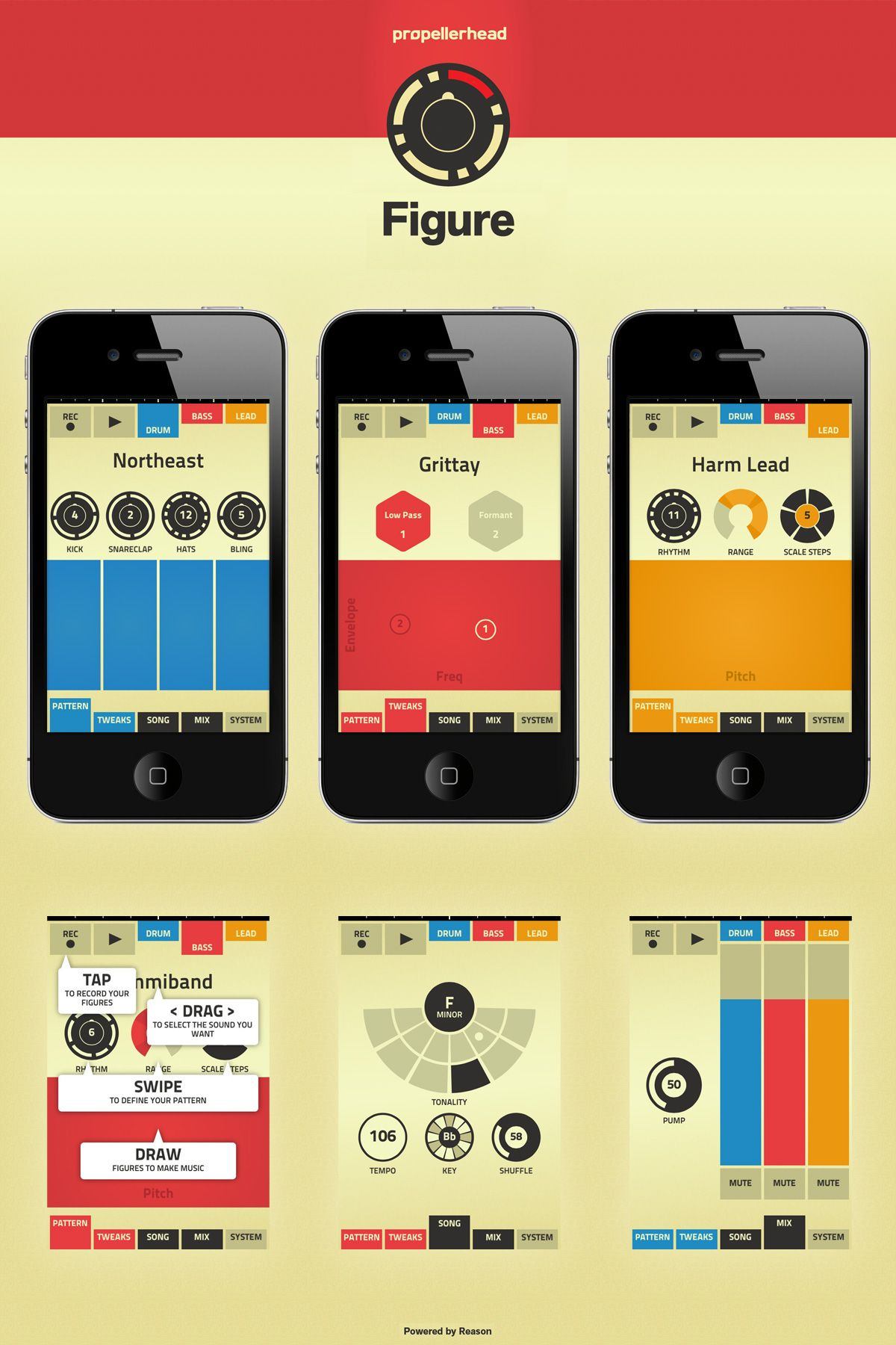 Figure App By Propellerhead Reason Music Beats Music Software Drum And Bass