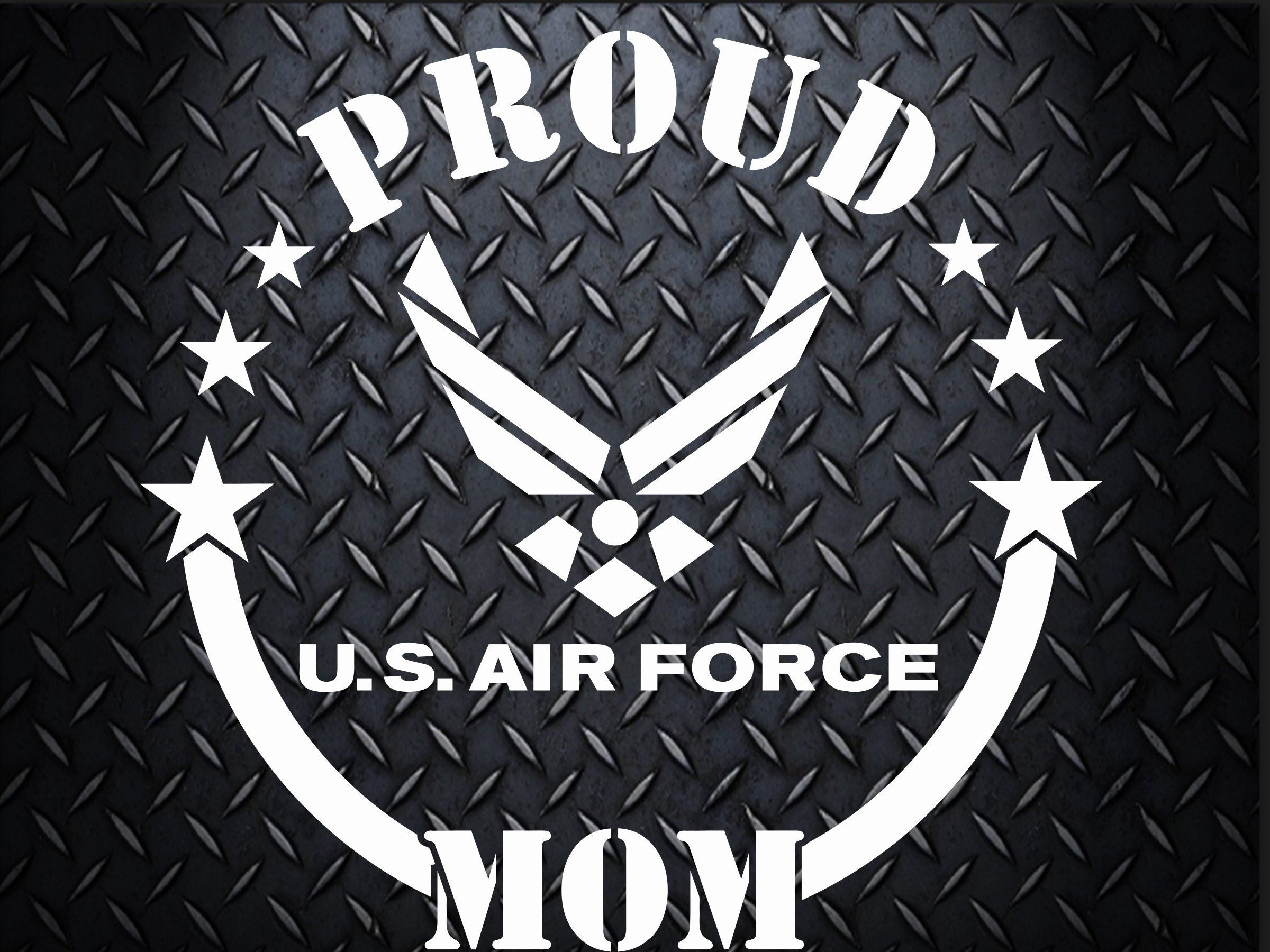 Air Force Car decal 6.5 inch decal, Proud Mom, Proud Dad