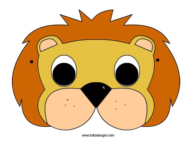 Maschere animali pagliaccio maschere di carnevale for Maschere da colorare animali