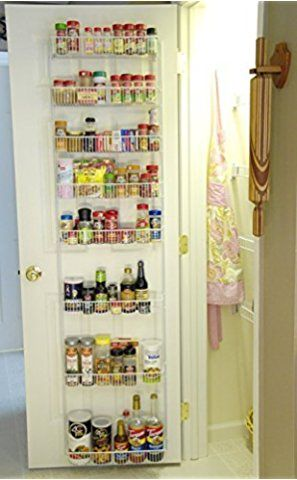 24 Inch Wide Adjustable Door Rack Pantry Organizer Inredning