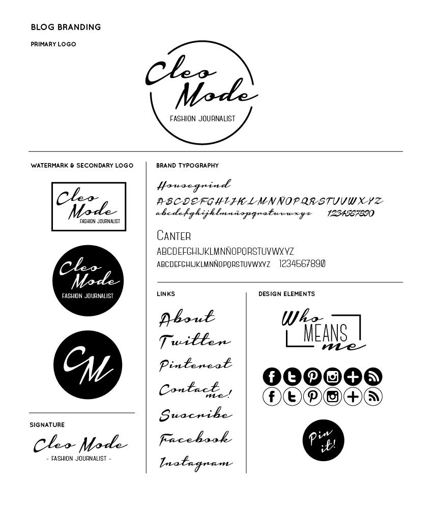 cleo mode blogger branding & identity by www.estibalizlopez.com