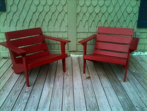 Modern Adirondack Outdoor Patio Chairs by SameAsNever on Etsy
