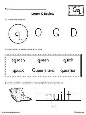 Learning The Letter Q Worksheet Letter S Worksheets Letter N Worksheet Letter Q Worksheets