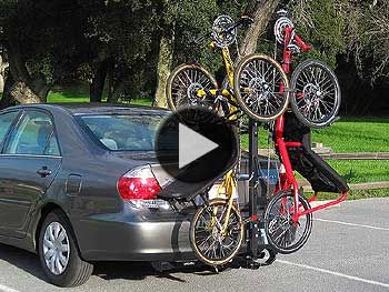 Upright Bike And Trike On Hitch Mounted Car Rack Car Racks Trike Upright Bike