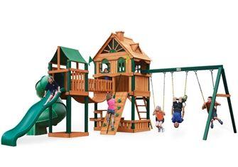Chateau Swing Set | Cedar swing sets, Wood swing sets ...