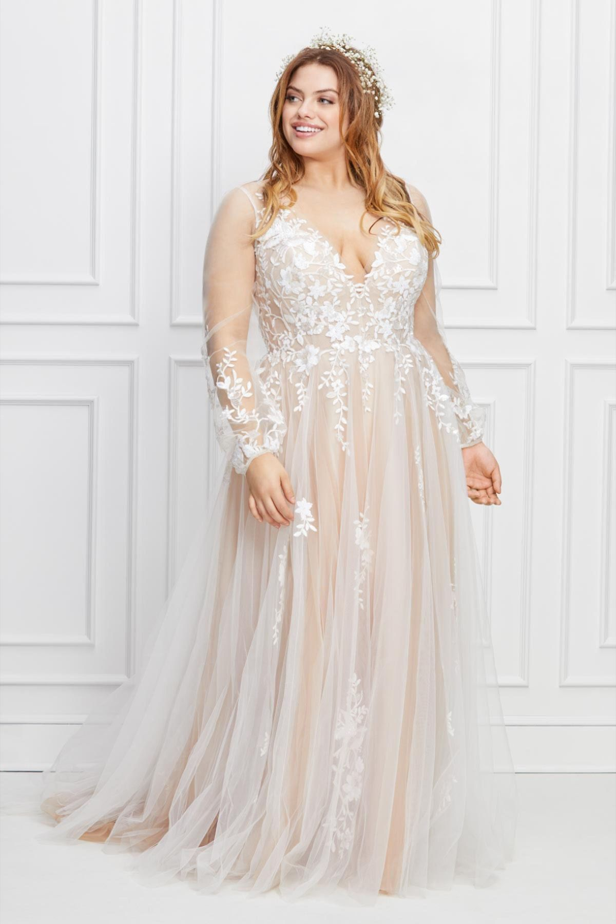 Willowby Saros Sleeved Wedding Gown Plus Wedding Dresses Evening Dresses For Weddings Plus Size Wedding Gowns [ 1800 x 1200 Pixel ]