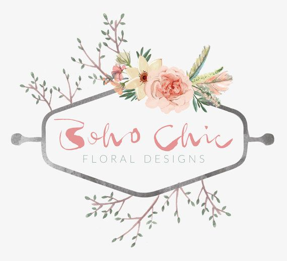Business Logo Graphic Design Floral By ATypeOfInspiration