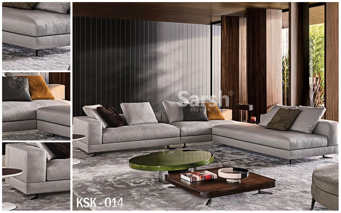 sofa white of minotti bergers interieurs