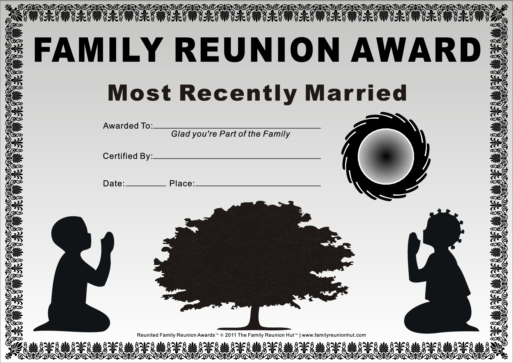Family Reunion Certificates Kids At Prayer 20 Is A Free Family