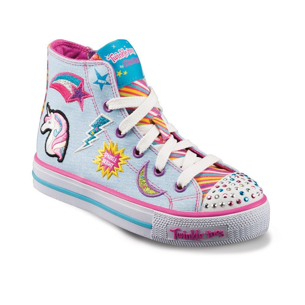 e05d31c2c969 Skechers Twinkle Toes Shuffles Twist Girls  Light-Up Sneakers