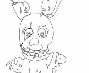 fnaf 3 phantom animatronics coloring pages | Print mangle from five nights at freddys 2 fnaf coloring ...