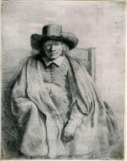 Rembrandt van Rijn, Clement de Jonghe, Printseller 1651. 207 x 161 mm. The Morgan Library & Museum