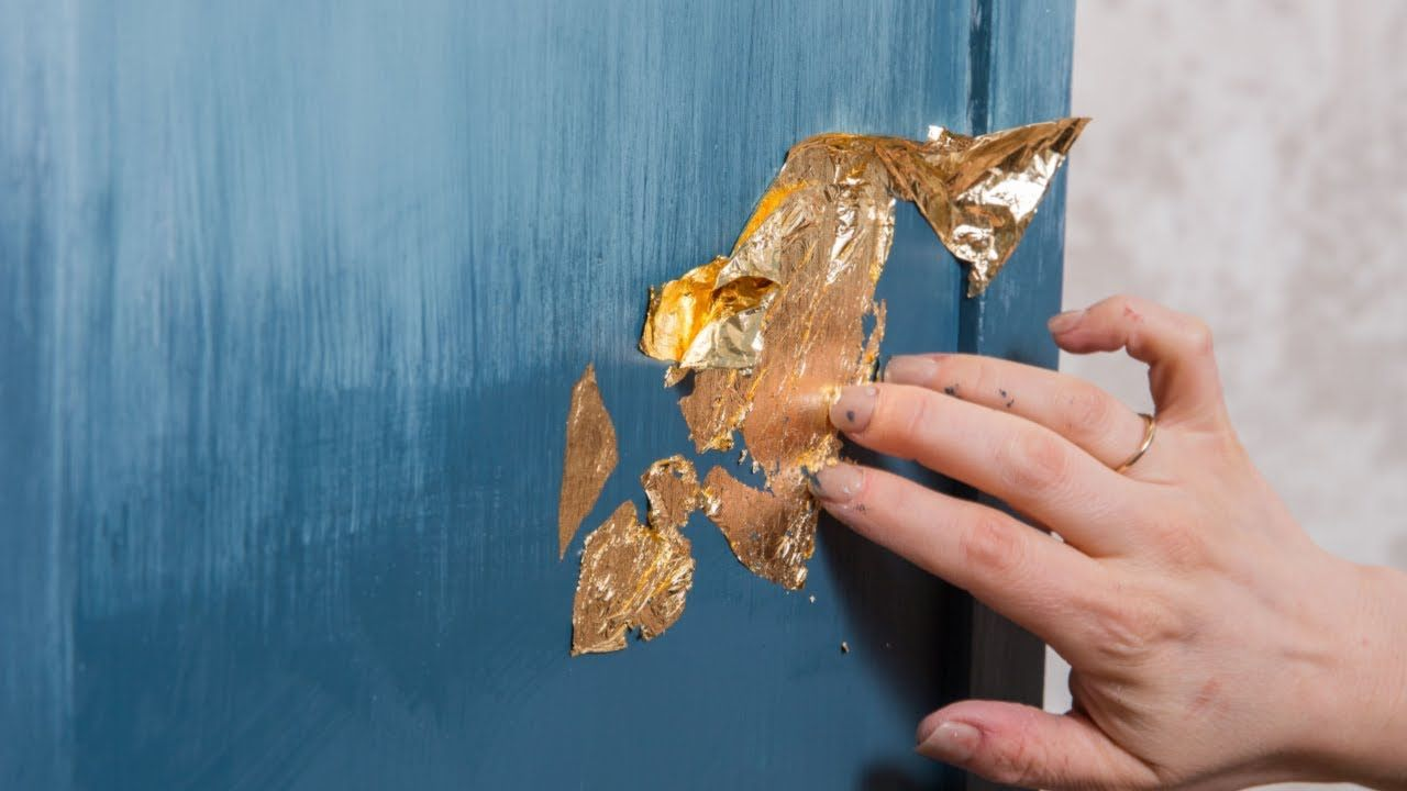 How To Apply Gold Leaf To Furniture And Fusion Mineral Paint In 2020 Gold Leaf Furniture Gold Leaf Diy Fusion Mineral Paint