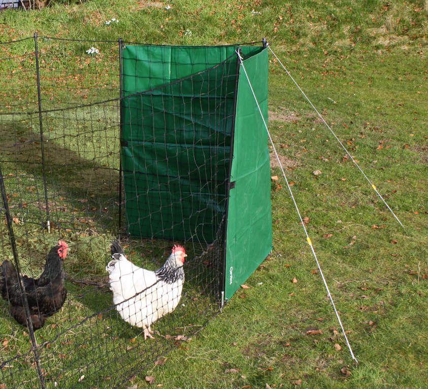 kit bâche coupe vent pour filet à poules  poule coupe