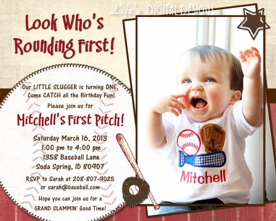 Baseball first birthday invitation baseball birthday invitations baseball birthday invitation with photo 6x75 costco size red customizable printable on etsy 1400 m4hsunfo