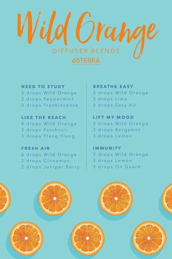 Diffusing Wild Orange Essential Oil