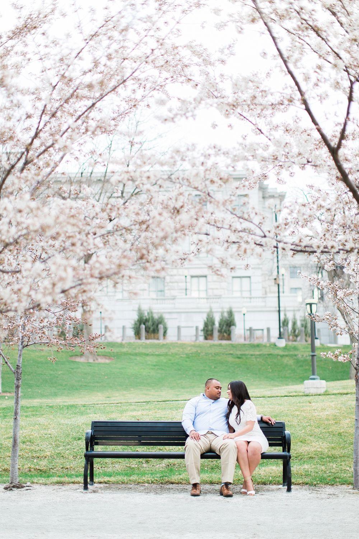 Samantha + Ima | Abbey Kyhl | AK Studio & Design | Utah Engagement Photography | Salt Lake Photographer | Spring Engagement Session | Engagement Photography | Salt Lake Capitol | LDS Weddings | Latter Day Bride | Blossom | Wedding Inspiration