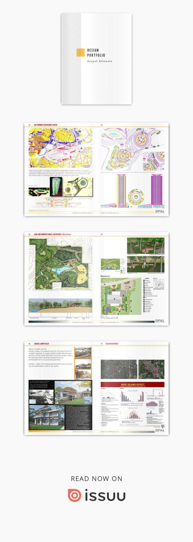 Design portfolio 2014 Portfolio design, Landscape