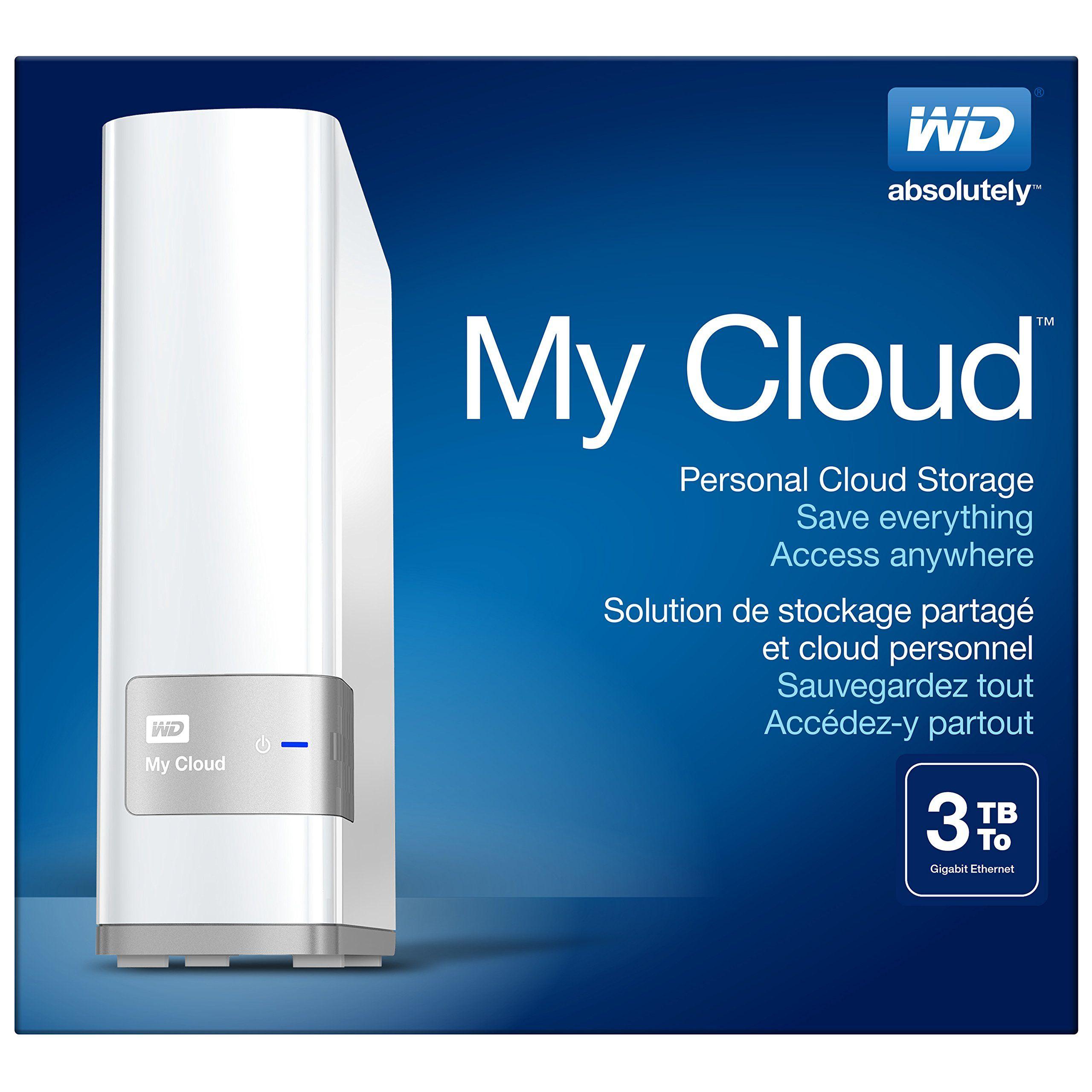 WD 4TB My Cloud Network Storage Personal Hard Drive External NAS WDBCTL0040HWT